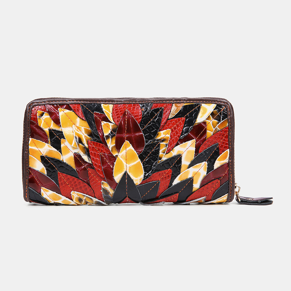 Women Genuine Leather Patchwork Vintage Wallet Purse Clutches Bag from Banggood