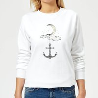 Anchor Your Dreams Women's Sweatshirt - White - M - White from Barlena