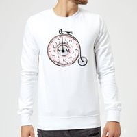 Donut Ride My Bicycle Sweatshirt - White - M - White from Barlena