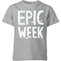 Epic Week Kids' T-Shirt - Grey - 9-10 Years - Grey from Barlena