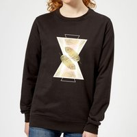 Feather Women's Sweatshirt - Black - 5XL - Black from Barlena