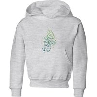 Geometry and Nature Kids' Hoodie - Grey - 9-10 Years - Grey from Barlena