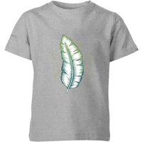 Geometry and Nature Kids' T-Shirt - Grey - 9-10 Years - Grey from Barlena