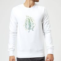 Geometry and Nature Sweatshirt - White - XXL - White from Barlena