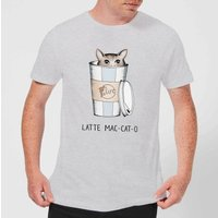 Latte Mac-Cat-O Men's T-Shirt - Grey - M - Grey from Barlena