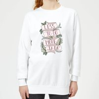 Less To-Do More Ta-Da Women's Sweatshirt - White - S - White from Barlena