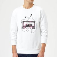 Mixtape Sweatshirt - White - L - White from Barlena