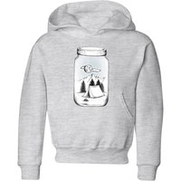New Adventure Kids' Hoodie - Grey - 5-6 Years - Grey from Barlena