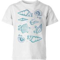 Ocean Gems Kids' T-Shirt - White - 3-4 Years - White from Barlena