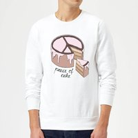 Peace Of Cake Sweatshirt - White - L - White from Barlena