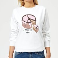 Peace Of Cake Women's Sweatshirt - White - S - White from Barlena