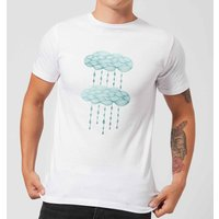 Rainy Days Men's T-Shirt - White - L - White from Barlena