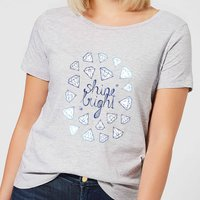 Shine Bright Women's T-Shirt - Grey - XXL - Grey from Barlena
