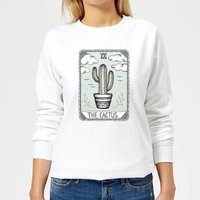 The Cactus Women's Sweatshirt - White - S - White from Barlena