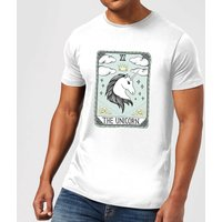The Unicorn Men's T-Shirt - White - S - White from Barlena