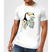 Toucan Men's T-Shirt - White - M - White from Barlena