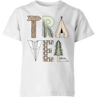 Travel Kids' T-Shirt - White - 5-6 Years - White from Barlena