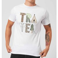 Travel Men's T-Shirt - White - XXL - White from Barlena