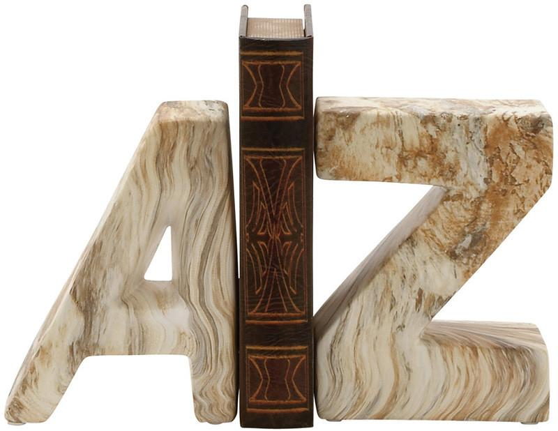 "Bayden Hill Ceramic Marble Finish Bookend Pr 6""W, 8""H from Bayden Hill"