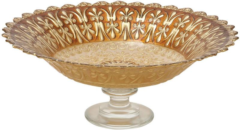 "Bayden Hill Glass Footed Brn Bowl 16""W, 6""H from Bayden Hill"