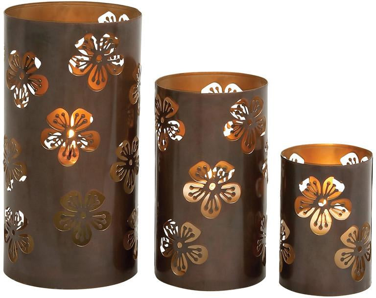 "Bayden Hill Metal Candle Holder S/3 12"", 9"", 6"" from Bayden Hill"
