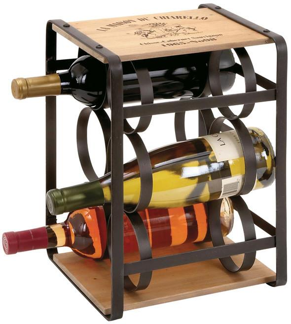"Bayden Hill Metal Wood Wine Holder 10""W, 13""H from Bayden Hill"