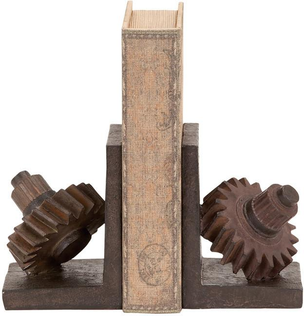"Bayden Hill Ps Gear Bookends S/2 7""H, 5""W from Bayden Hill"
