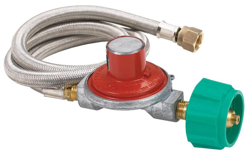 "Bayou Classic 15 PSI Reg, Valve, 36"" stainless braid hose M3HPH  Regulator from Bayou Classic"