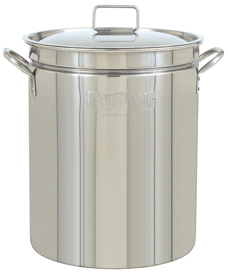 Bayou Classic 24 Quart Stainless Steel Stockpot from Bayou Classic
