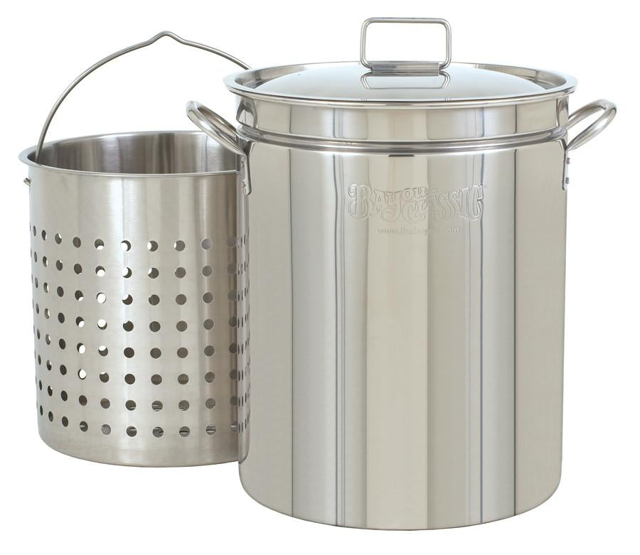 Bayou Classic 44 Quart Stainless Steel Stockpot And Basket Set from Bayou Classic