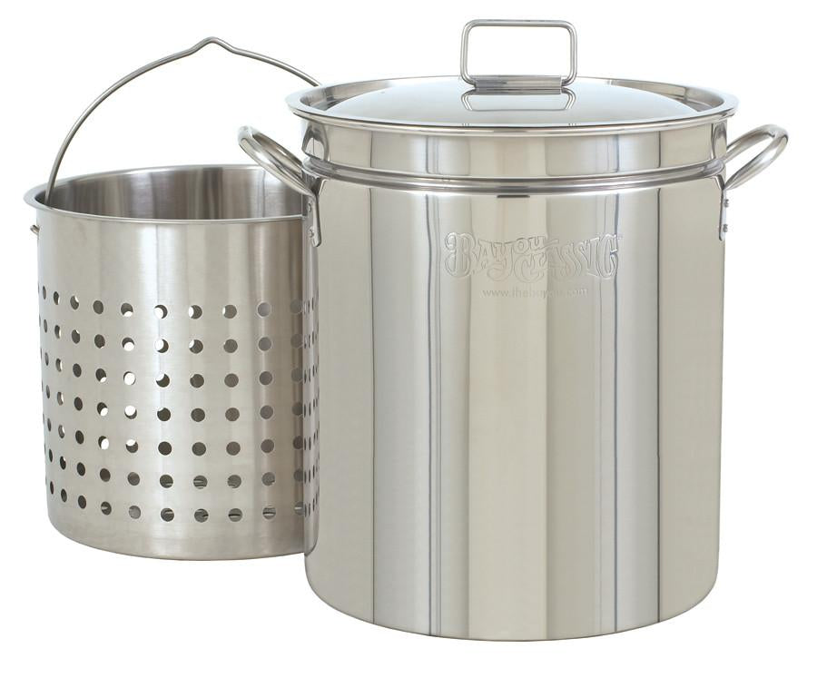 Bayou Classic 62 Quart Stainless Steel Stockpot (Basket Sold Separately) from Bayou Classic
