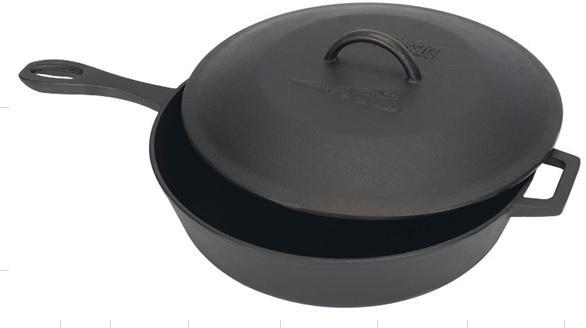 Bayou Classic 7445 5-qt Covered Cast Iron Skillet from Bayou Classic