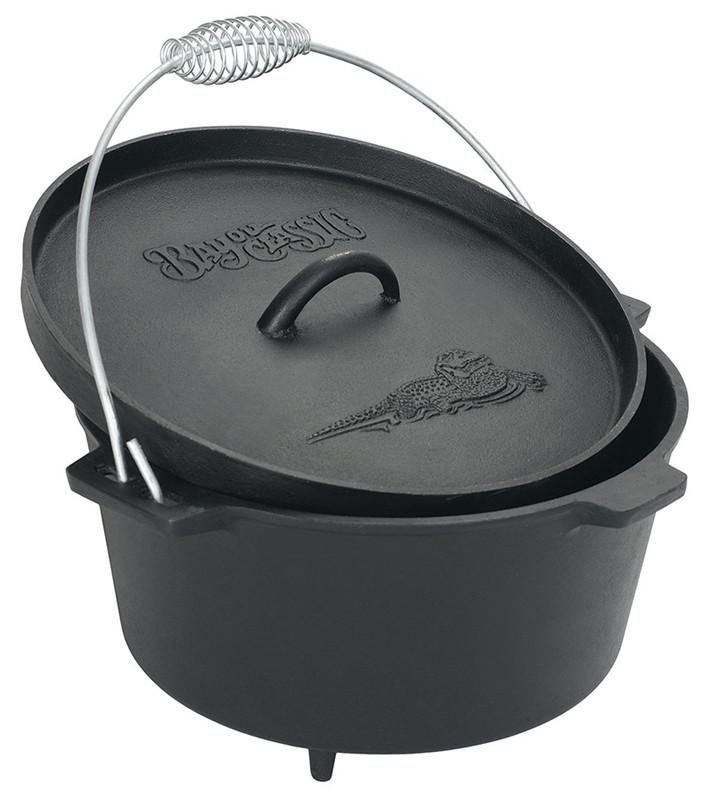 Bayou Classic 8.5 Cast Iron Dutch Oven w/Feet & Flanged Lid 7360  Oven from Bayou Classic