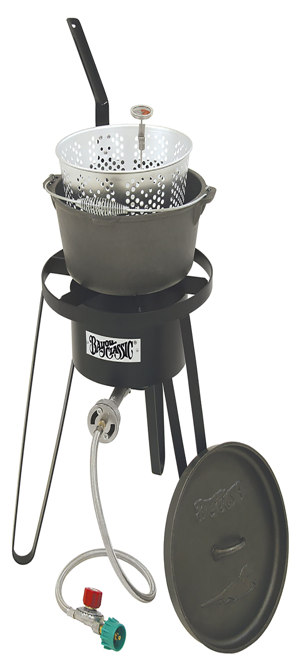 Bayou Classic Cast Iron Fry Pot, Cooker, 10 psi, Therm B159  Cooker from Bayou Classic