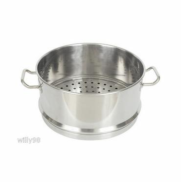 Bayou Classic Stainless Steel Steam Topper - Fits 62 And 64 Quart Stockpots from Bayou Classic
