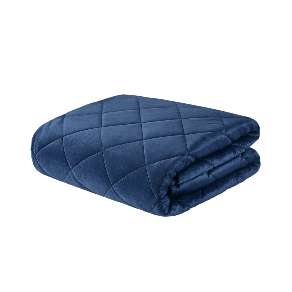 "60""x70"" 18lb Luxury Mink Weighted Blanket Indigo - Beautyrest from Beautyrest"