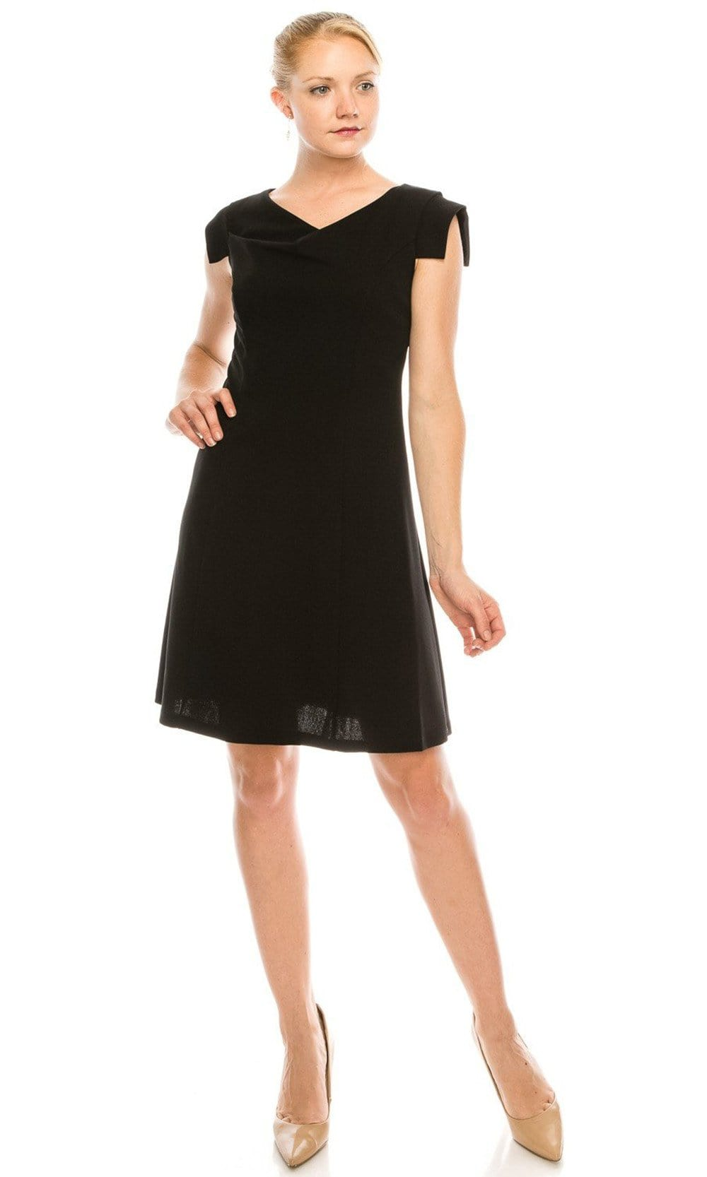 Bebe - 701588 Cowl Neck Cap Sleeve Dress from Bebe