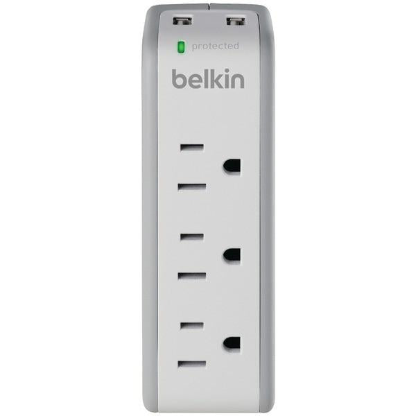 Belkin BZ103050-TVL 3-Outlet Mini Surge Protector with 2 USB Ports from Belkin
