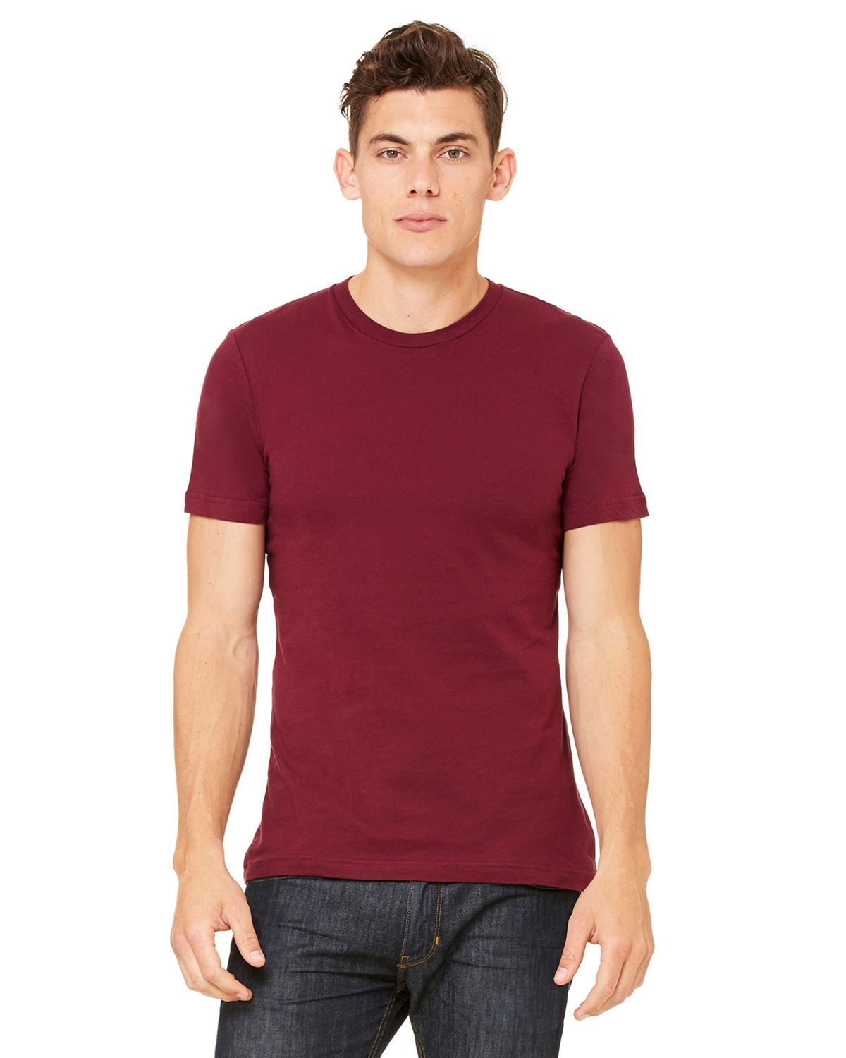 Bella + Canvas 3001C Jersey Short-Sleeve Unisex T-Shirt - Cardinal - XS from Bella + Canvas