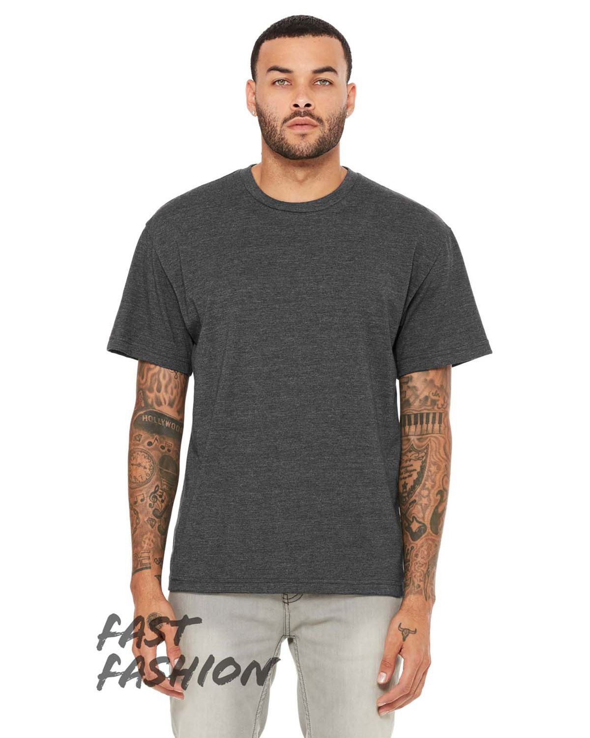 Bella + Canvas 3008C Men's Fast Fashion Drop Shoulder Street T-Shirt - Dark Gry Heather - M from Bella + Canvas