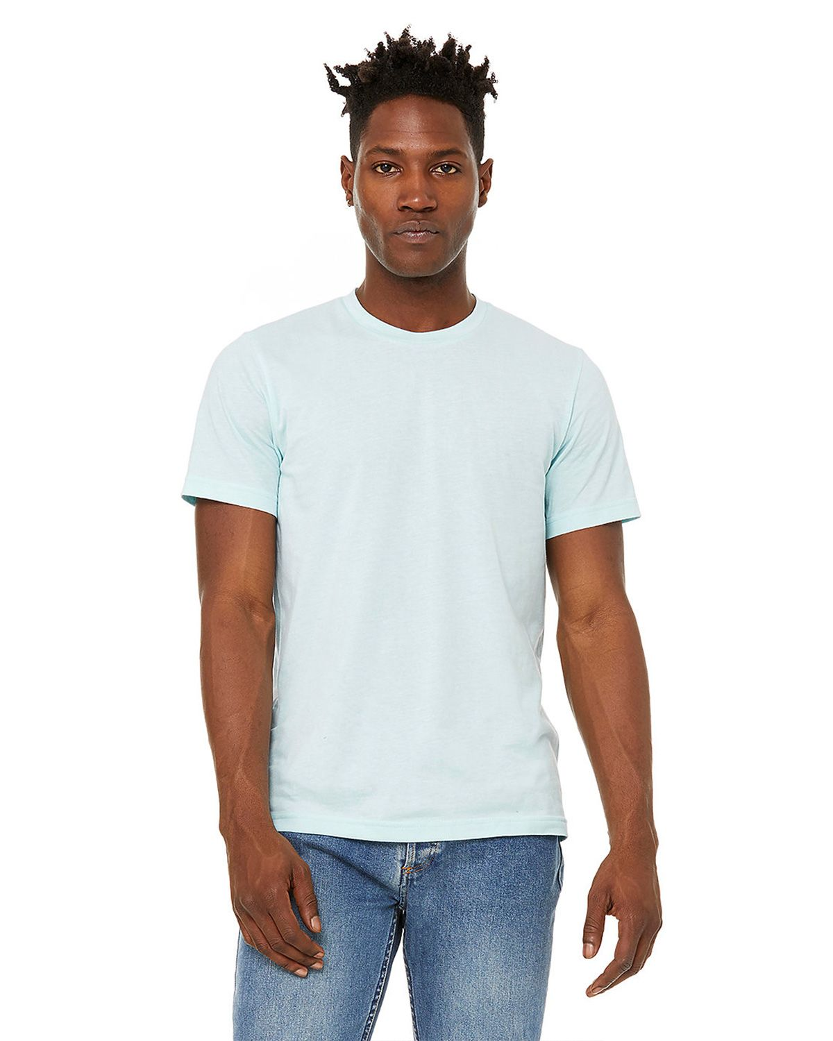 Bella + Canvas 3301 Sueded Unisex Tee - Heather Ice Blue - XS from Bella + Canvas