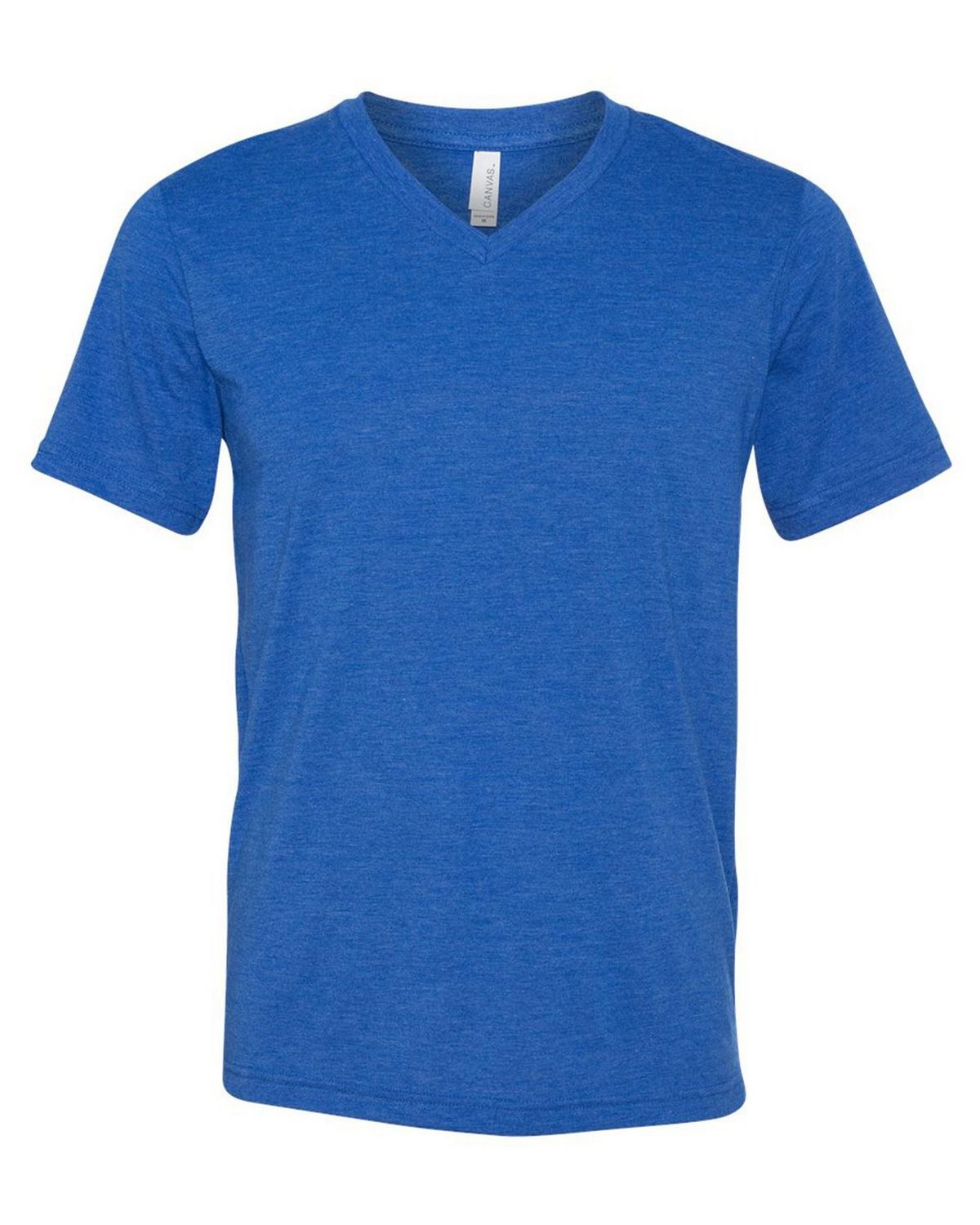 Bella + Canvas 3415 Triblend Short Sleeve V-Neck Unisex Tee - True Royal Triblend - XS from Bella + Canvas