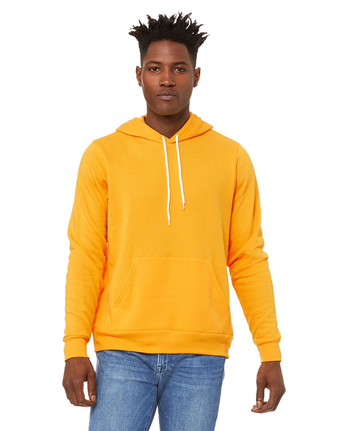 Bella + Canvas 3719 Poly Cotton Fleece Pullover Unisex Hoodie - Gold - XS from Bella + Canvas