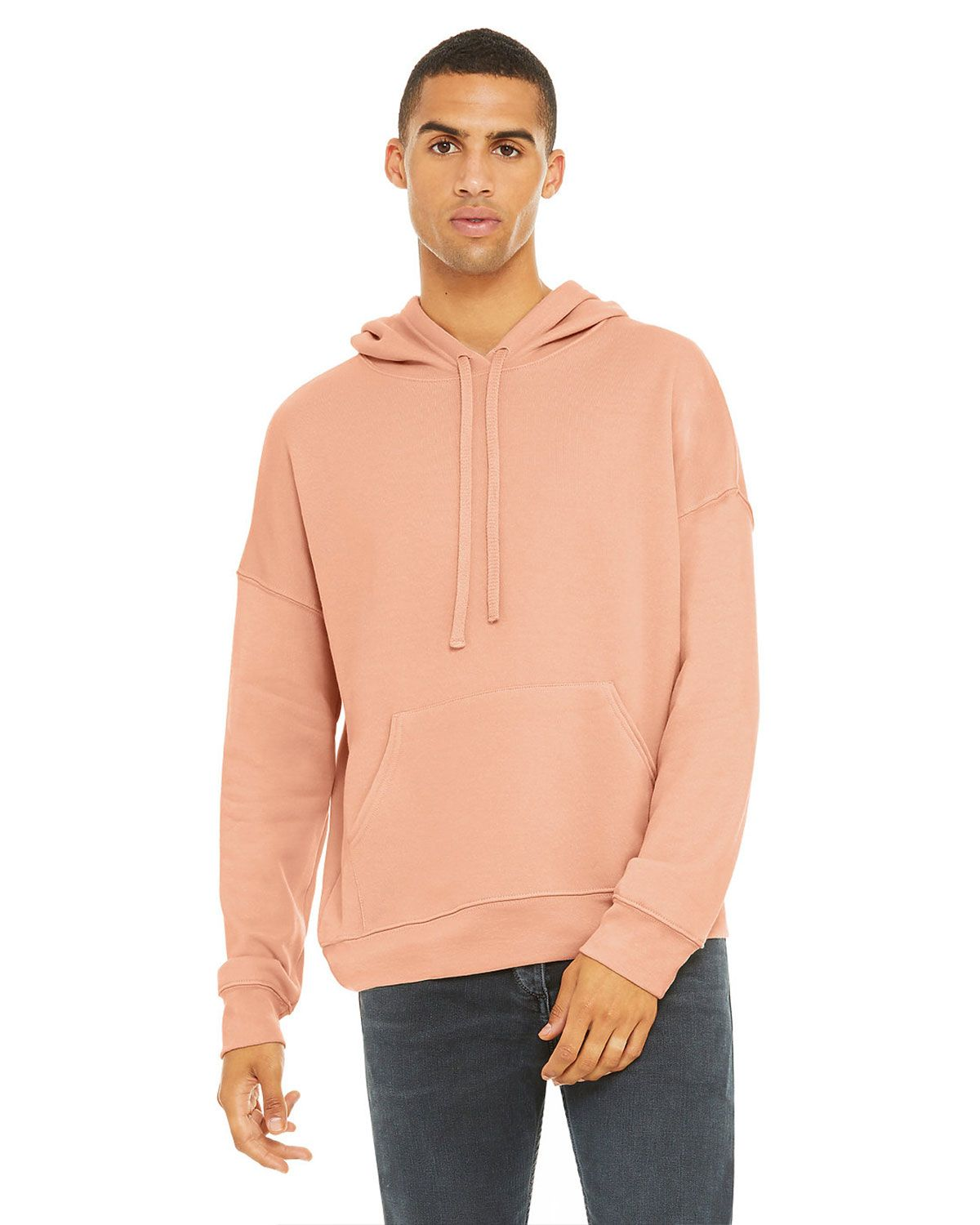 Bella + Canvas 3729 Unisex Sponge Fleece Pullover Hoodie - Peach - XS from Bella + Canvas