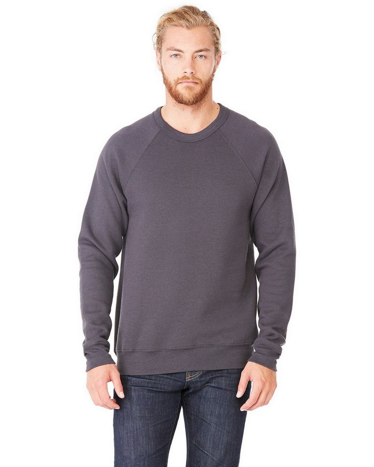 Bella + Canvas 3901 Sponge Fleece Crew Neck Unisex Sweatshirt - Dark Grey - XS from Bella + Canvas