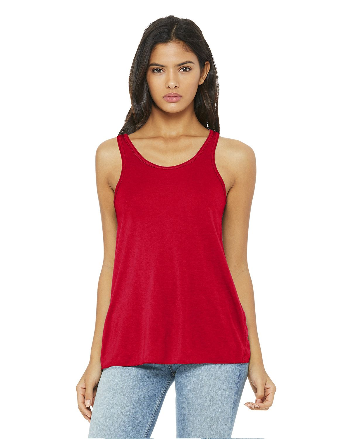 Bella + Canvas 8800 Women's Flowy Racerback Tank - Red - XS from Bella + Canvas