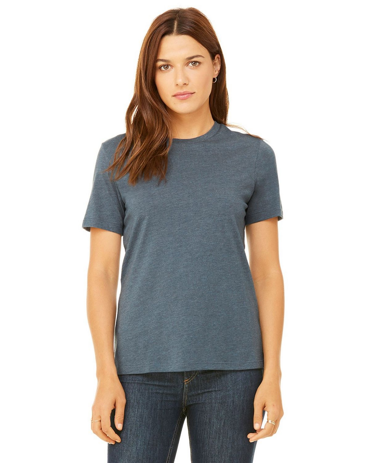 Bella + Canvas B6400 Women's Missys Relaxed Jersey Short-Sleeve T-Shirt - Heather Slate - S from Bella + Canvas