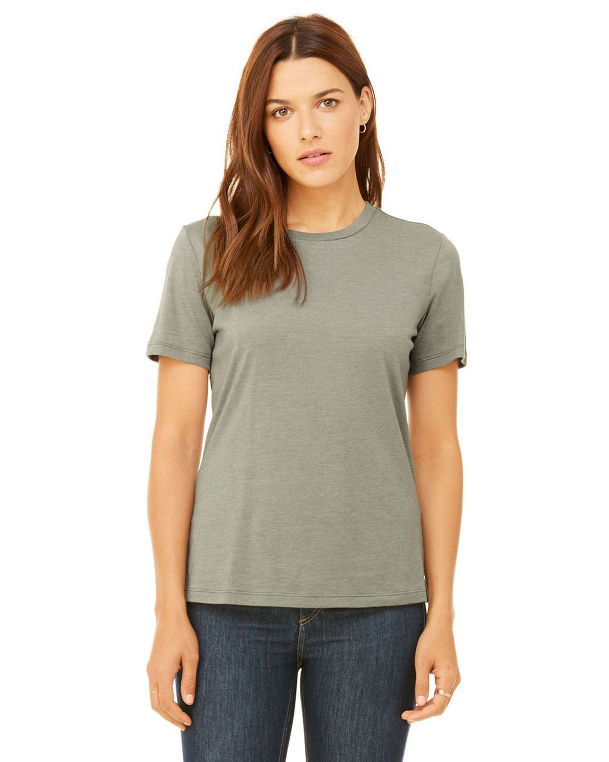 Bella + Canvas B6400 Women's Missys Relaxed Jersey Short-Sleeve T-Shirt - Heather Stone - S from Bella + Canvas