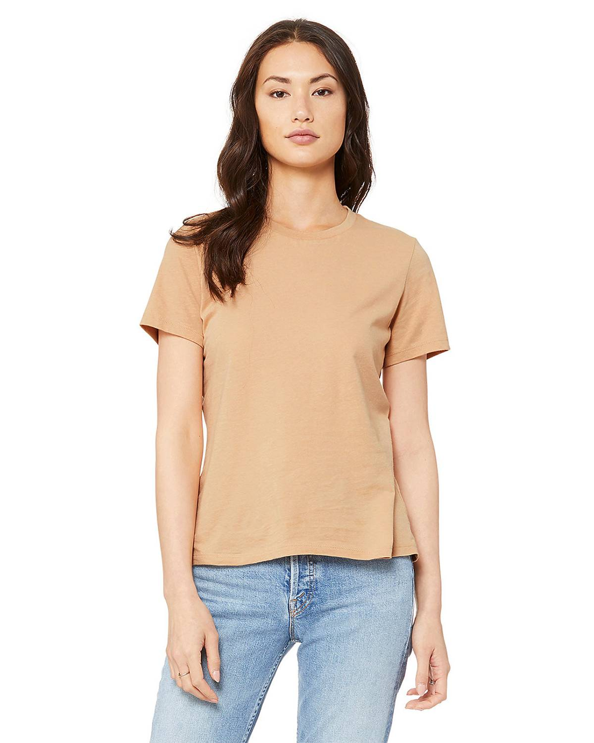 Bella + Canvas B6400 Women's Missys Relaxed Jersey Short-Sleeve T-Shirt - Sand Dune - S from Bella + Canvas