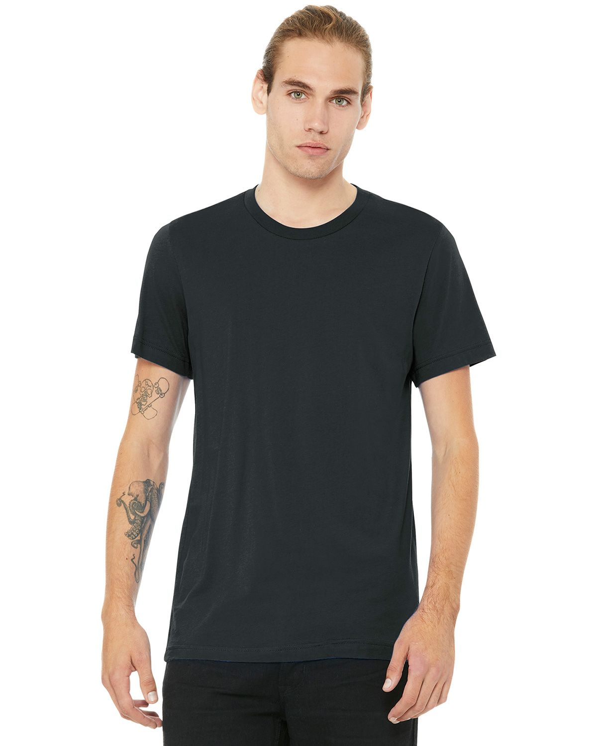 Bella + Canvas BC3001 Jersey Short Sleeve Unisex Tee - Dark Grey - XS from Bella + Canvas
